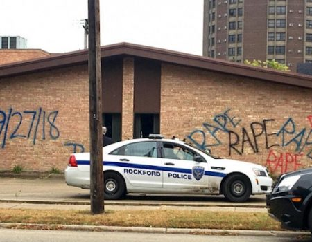 GOP headquarters in Rockford vandalized with word 'rape'
