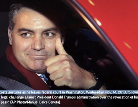 Judge orders White House to restore press pass to CNN's Acosta
