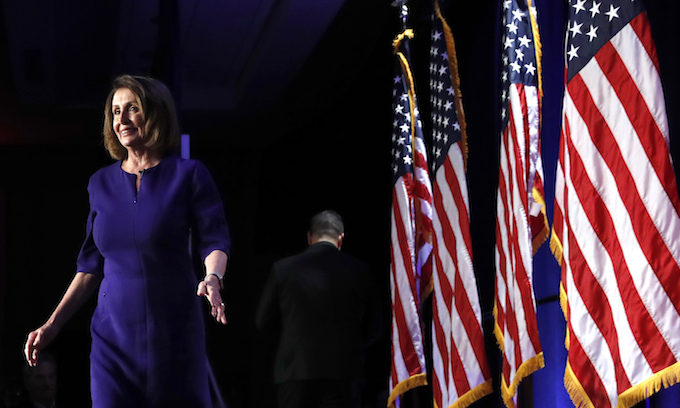 Pelosi declares 'new day in America' as Democrats take House; GOP holds Senate