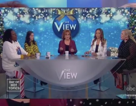 Vile Host of 'The View' using Bush 41 Passing to Bash Trump