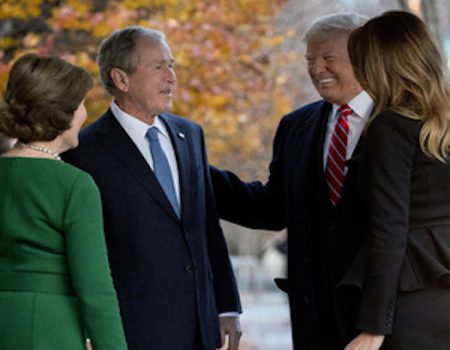 First lady invites Bush family to White House; Trumps call on Bushes at Blair House