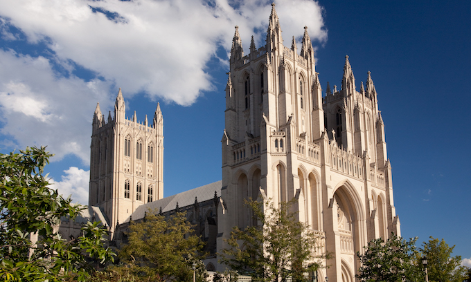 George H.W. Bush memorial service today at National Cathedral