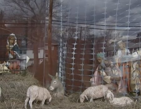 Mass. church protests Trump by placing baby Jesus in cage