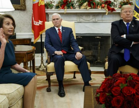 Trump, Pelosi, Schumer spar over border security in White House meeting