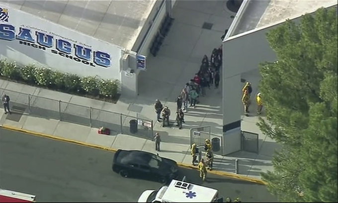 Police lock down LA-area high school after shooting