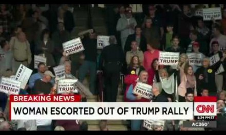 Muslim woman stands, gets escorted out of Trump rally