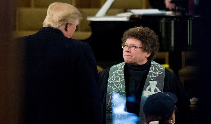 Media goes to church to criticize Trump