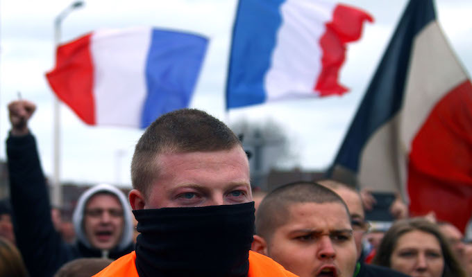 French citizens hold anti-migrant, anti-Islam rally; 20 arrested