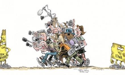 Media mob moves