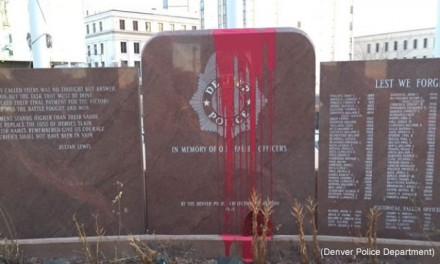 Fallen Officer Memorial Gets Defaced… Again