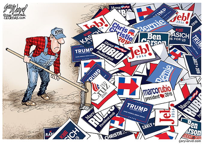 Cleaning up in Iowa