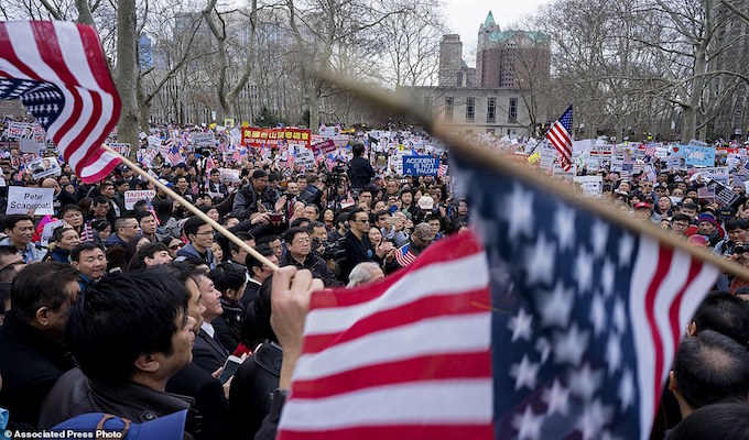 Thousands rally in support of NYPD officer convicted of manslaughter