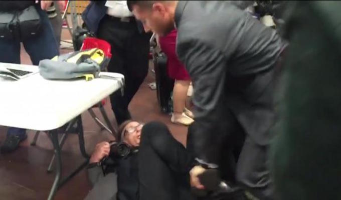 Time photographer taken down by Secret Service at Trump rally