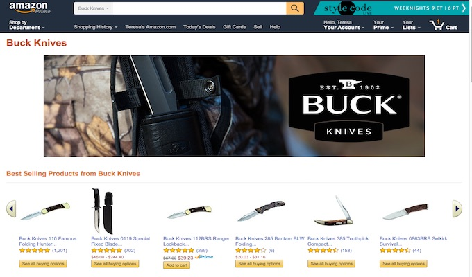 Once Guns are Gone Knife Advertising Gets the Blame