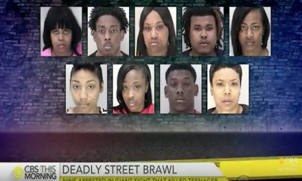 9 charged with murder after massive brawl