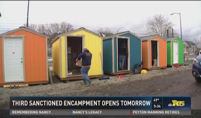 Seattle opens third tent city for homeless