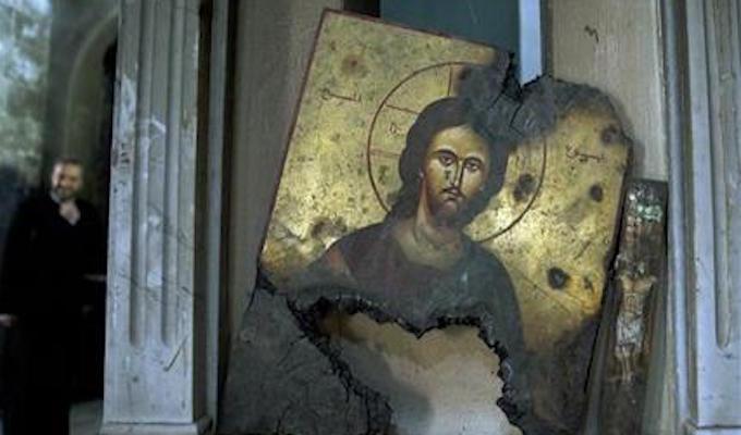Christian hamlet in Syria bears scars of terrorist attacks