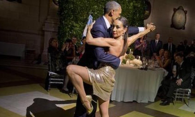 Add Your Caption: World in Turmoil; Obama Gets Some Leg