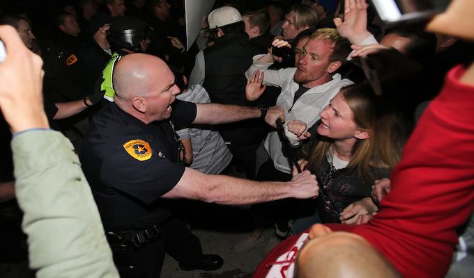 Protesters clog Salt Lake streets at Trump rally