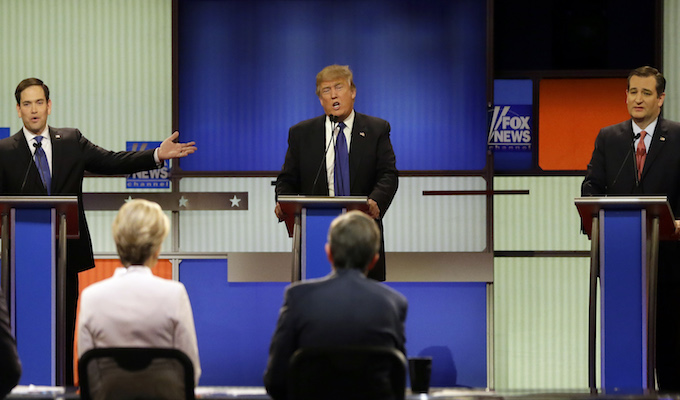 Debate: Rubio, Cruz forge loose alliance against Trump