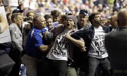 Trump supporter punches black protester at rally
