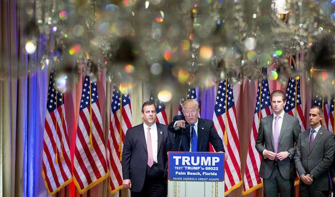 Trump names Christie as transition team chairman