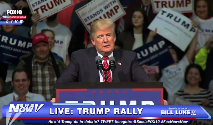 Trump considers paying legal bills for man charged at rally