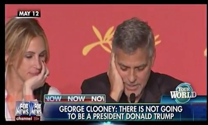 Looney Clooney: There's not going to be a President Donald Trump