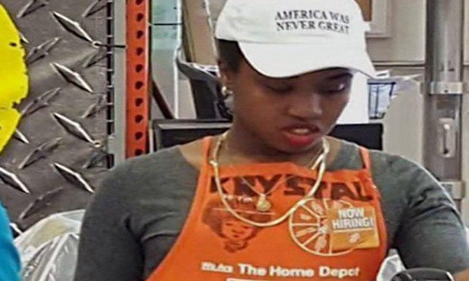 Home Depot worker wore 'America Was Never Great' cap