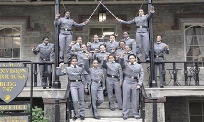 No punishment for 16 West Point cadets in black power photo