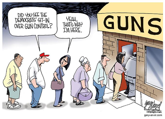 Gun sales jump again