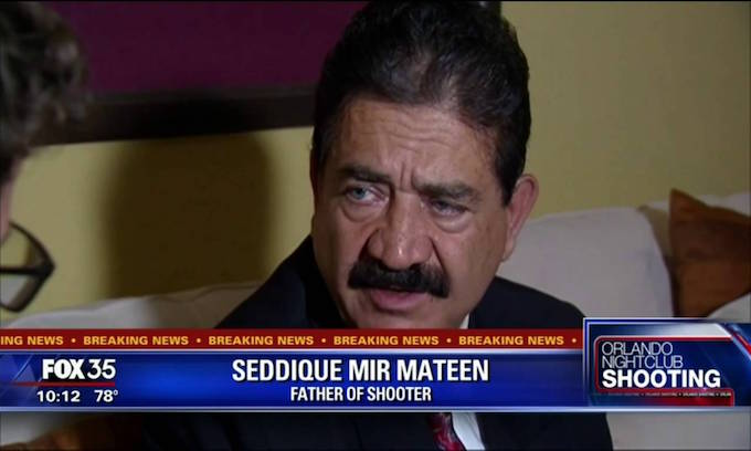 Orlando shooter's father points to men kissing in Miami to explain son's anger