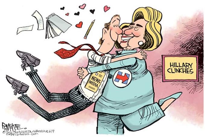Hillary's media