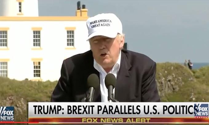 Trump predicts breakup of EU
