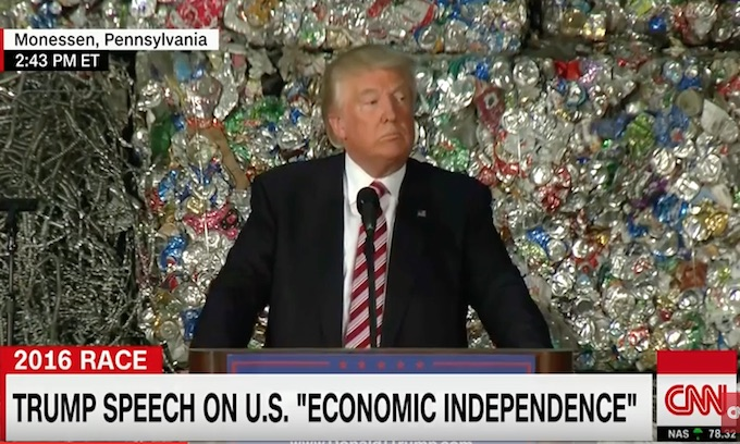Trump delivers major speech on trade