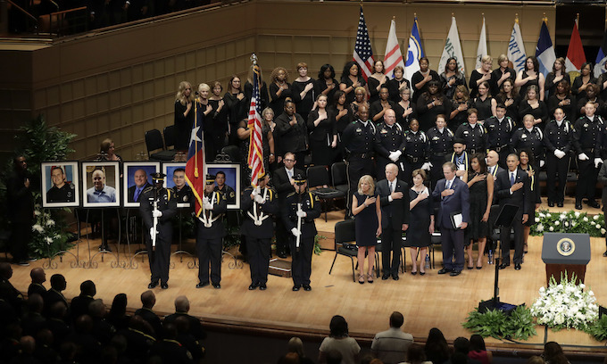 Dallas Memorial Service for Slain Police Officers