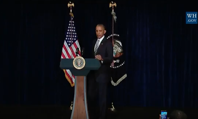 Obama lectures nation on racial disparities hours before assassination of Dallas police officers