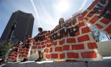 Agitators build 'wall' in Cleveland