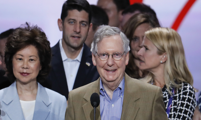 What did Ryan and McConnell say about Trump at the RNC?