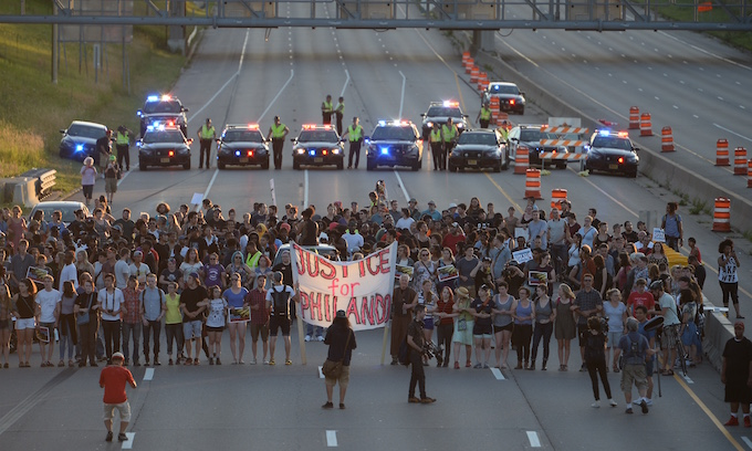 Police chief disgusted by violence at I-94 protest; 21 officers hurt