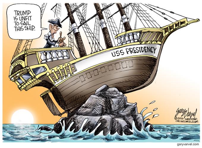 USS Obama aground