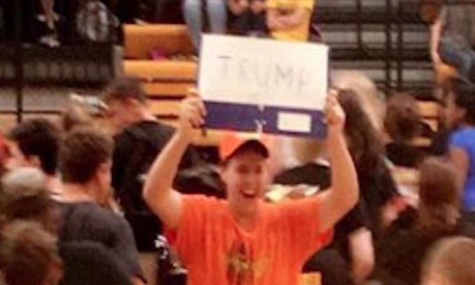 HS student suspended for holding up 'unnecessary' Trump sign
