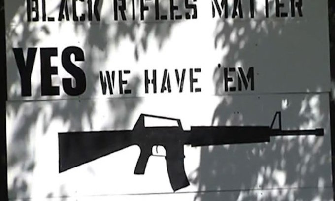 'Black Rifles Matter' sign offends visitors to Maine town