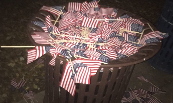 Anti-Americans destroy 9/11 tribute at Obama's alma mater