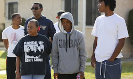 Protests in Los Angeles after police shooting of armed teen