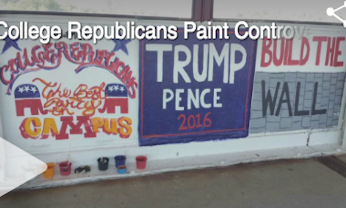 Vandalism of pro-Trump mural offers free-speech lesson at University of Minnesota