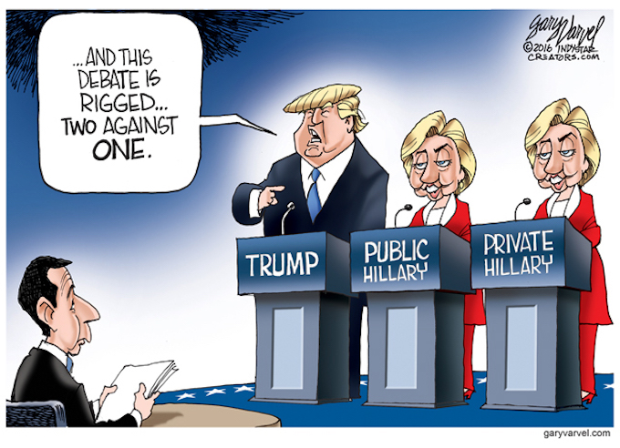 Two faces of Hillary