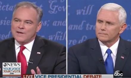 VP Debate:  Kaine Comes Off as First-Rate Jerk