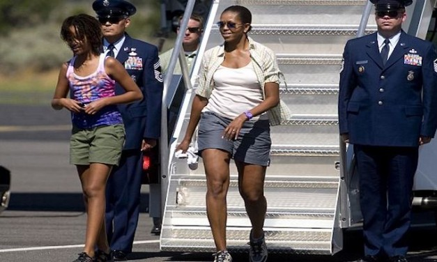 Michelle Obama accuses Trump of feeding kids 'crap'