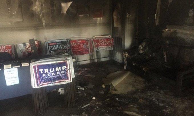 Fears rise that GOP office firebombing will stifle free speech as election nears